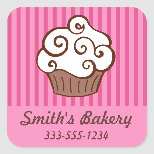 Custom cupcake bakery business stickers