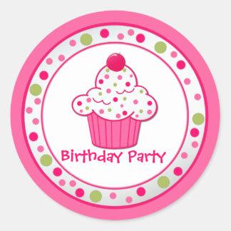 Custom Cupcake Birthday Party Sticker