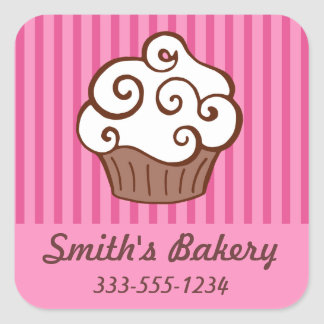 Custom Cupcake Business Stickers