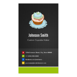 Custom Cupcake Maker - Creative Innovative Business Card Template