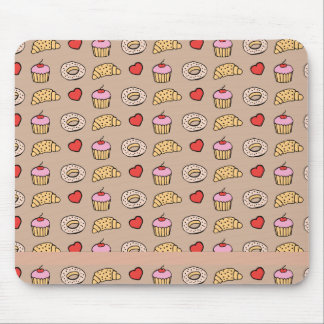 Custom Cupcake Pattern Mouse Pad