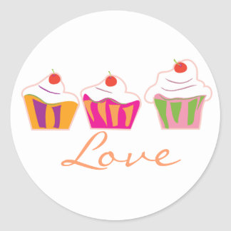 Custom cupcake stickers. classic round sticker