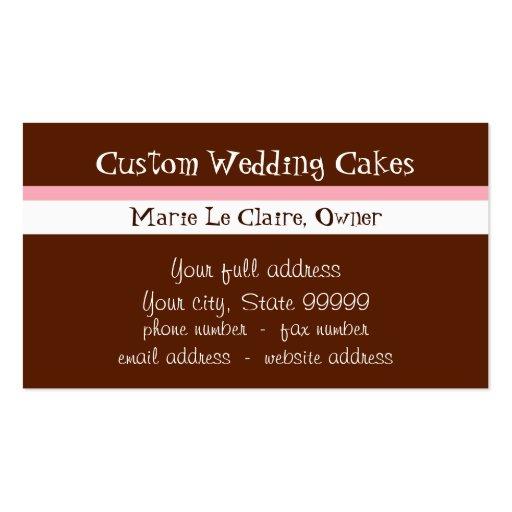 Custom Cupcake Sweet Shoppe Business Cards (back side)