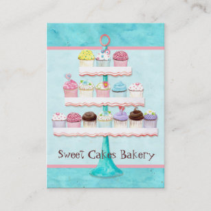 Sweet business cards templates zazzle custom cupcake sweet shoppe business cards colourmoves