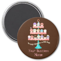 Custom Cupcake Sweet Shoppe Business Magnets