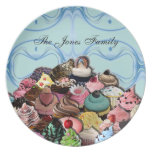 Custom Cupcakes Design (Blue) Melamine Plate