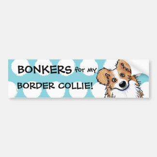Custom Curious Border Collie Bumper Sticker
