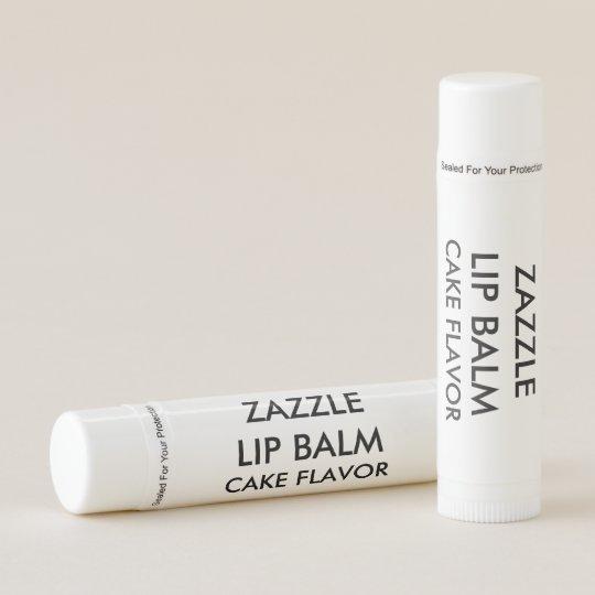 Custom Customizable Cake Flavor Lip Balm Template Zazzle Com