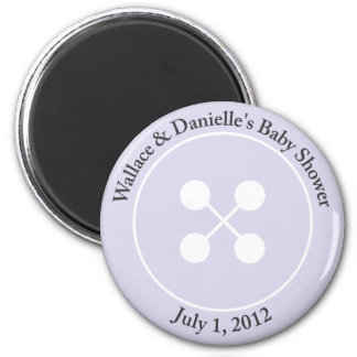 Custom Cute as a Button Baby Shower Magnet Favor
