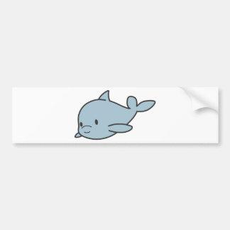 Custom Cute Baby Dolphin Cartoon Bumper Sticker