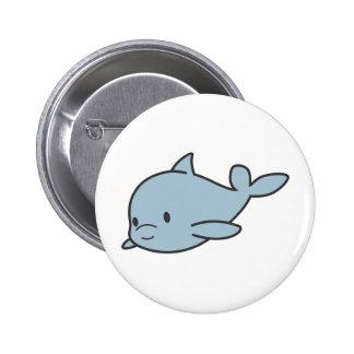 Custom Cute Baby Dolphin Cartoon Button