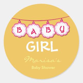 Custom Cute Baby Shower Favor Sticker Tag