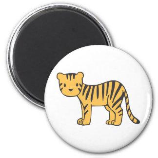 Custom Cute Baby Tiger Standing Magnet