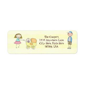 Custom Cute Family Return Address Labels