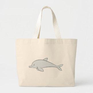 Custom Cute Flipper Dolphin Large Tote Bag