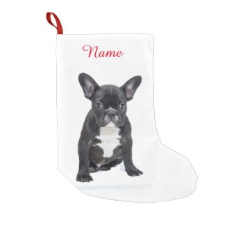 Custom Cute French Bulldog Puppy Small Christmas Stocking
