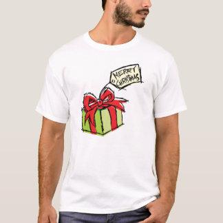 Custom Cute Gift Box w/ Merry Christmas Tag Shirt