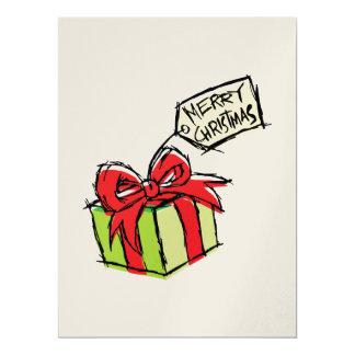 Custom Cute  Gift Box with Merry Christmas Tag Card