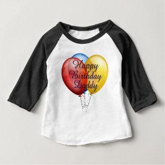 Custom cute Happy Birthday Daddy baby Shirt