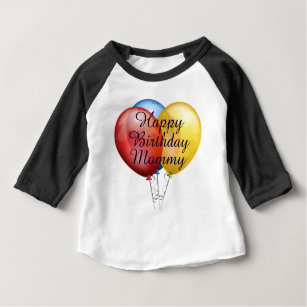 Custom Cute Happy Birthday Mommy Baby Shirt