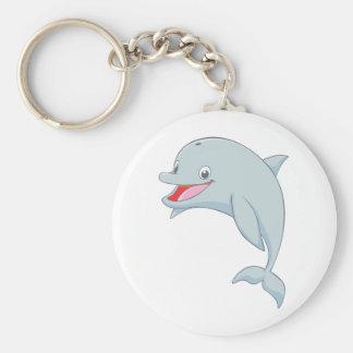 Custom Cute Jumping Dolphin Cartoon Keychain