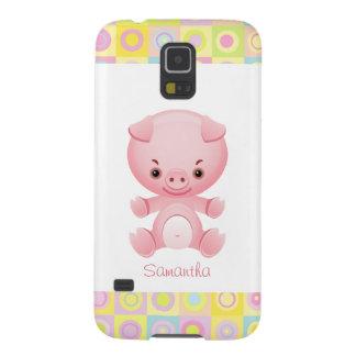Custom Cute Kawaii Pink Pig Galaxy S5 Cover