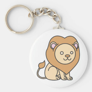 Custom Cute Lion Cartoon Logo Keychain