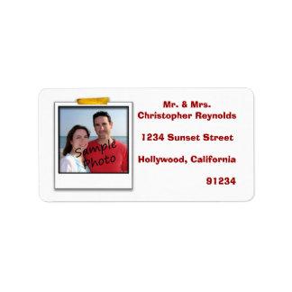 Custom Cute Photo Return Address Address Label