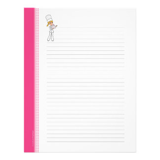 Custom Cute Recipe Pages for Binder Letterhead