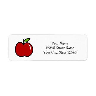 Custom cute red apple kindergarten school teacher label