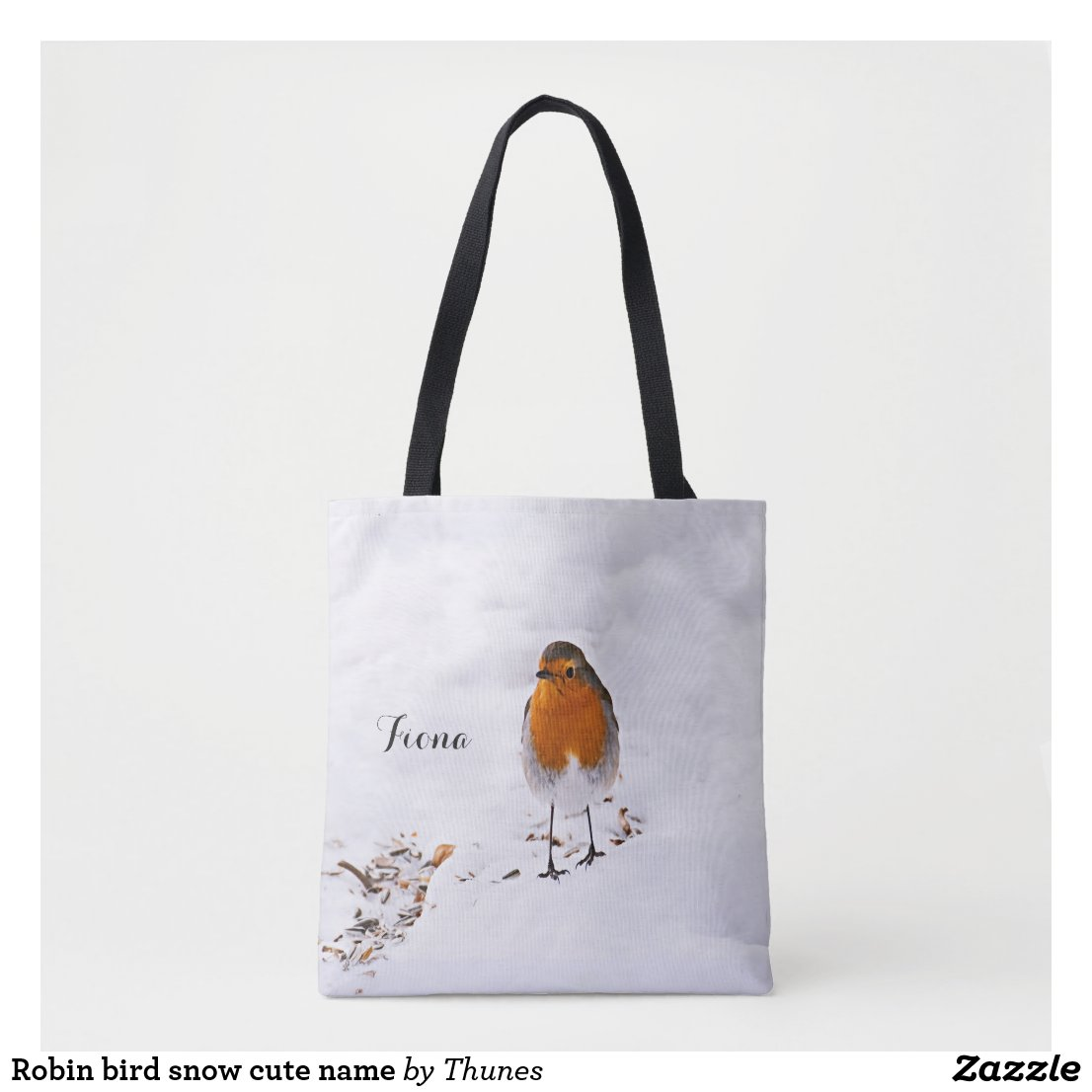 Custom cute Robin bird in snow