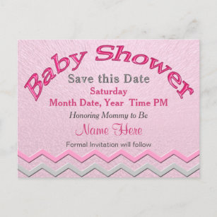 Custom Cute Save The Date For Baby Shower Cards