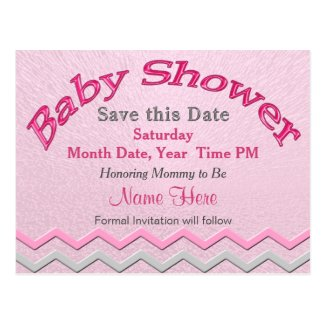 Custom Cute Save the Date for Baby Shower Cards Postcards