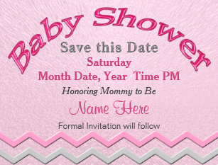 Baby shower save the date cards zazzle custom cute save the date for baby shower cards filmwisefo