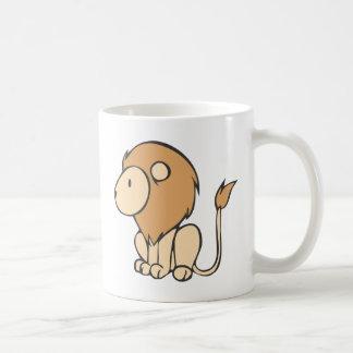 Custom Cute Sitting Baby Lion Cartoon Coffee Mug