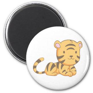 Custom Cute Smiling Cartoon Baby Tiger Cub Magnet