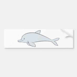 Custom Cute Swimming Dolphin Cartoon Bumper Sticker