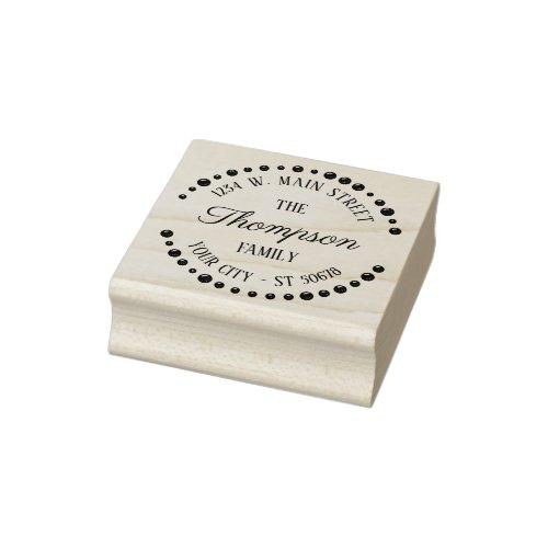 Custom Cute Trendy Modern Art Deco Circle Motif Rubber Stamp