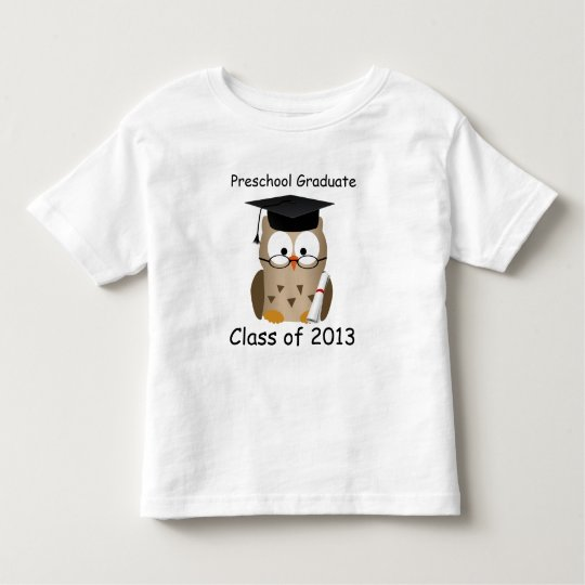 Custom Cute Wise Owl Preschool Graduate Kids Shirt