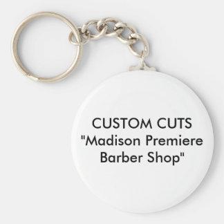 "CUSTOM CUTS""Madison Premiere Barber Shop"" Keychain"