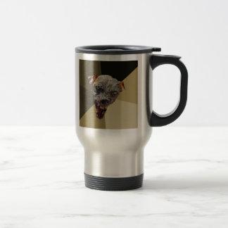 Custom Cynical Dog Travel Mug