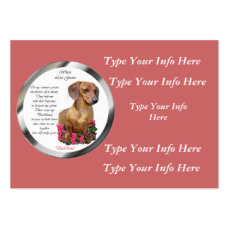 Custom Dachshund Profile Cards Business Cards