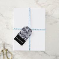 Custom Dad Typography Designer Gift Tags