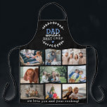 """Custom 'DAD' World's Best Chef Photo Collage Apron<br><div class=""""desc"""">Create your very own unique apron with this all over print modern photo collage and text. Featuring some foliage sprigs, the text 'Dad - world's best chef' a cute little heart, 9 photographs of your choice and an extra space for you to add an additinal message. Simply upload your pictures...</div>"""