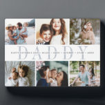 """Custom Daddy Father's Day Photo Collage Plaque<br><div class=""""desc"""">Create a sweet gift for a beloved dad this Father's Day with this six photo collage plaque. """"DADDY"""" appears in the center in soft gray lettering,  with your custom message and children's names overlaid.</div>"""