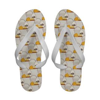 Custom Dairy Flip Flops