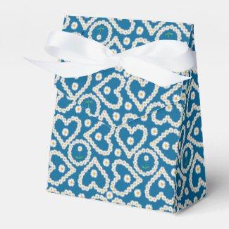 Custom Daisy Chains on Blue, Tent Favor Box