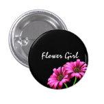 Custom Daisy Flower Wedding Flower Girl Buttons