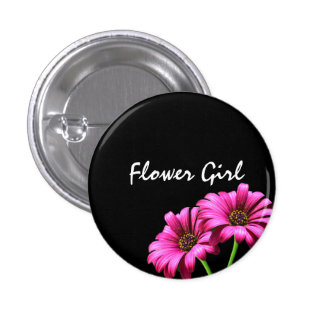 Custom Daisy Flower Wedding Flower Girl Buttons