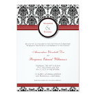 :custom: Damask black/red Wedding Invitation
